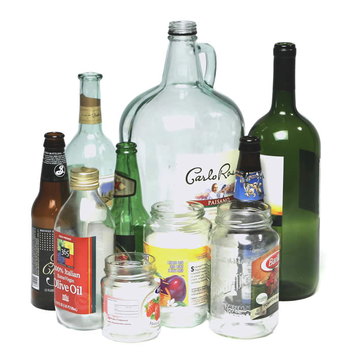 Reuse bottles and jars for sustainable lifestyle