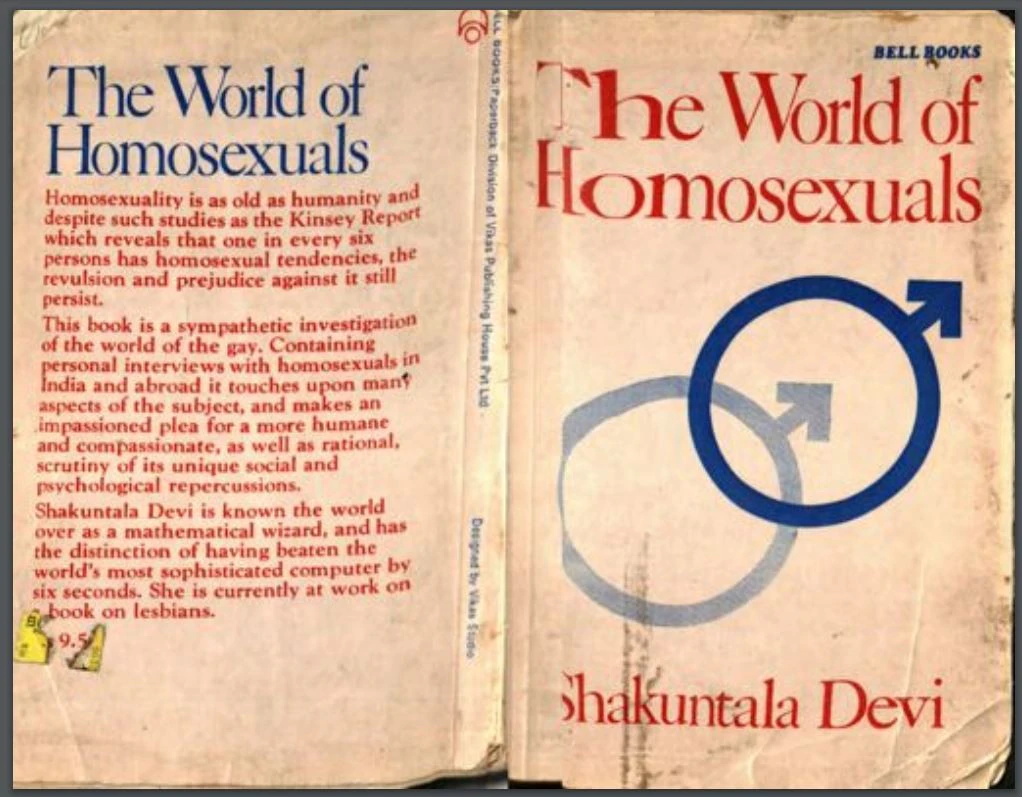 Pride month: The World Of Homosexuals by Shakuntala Devi