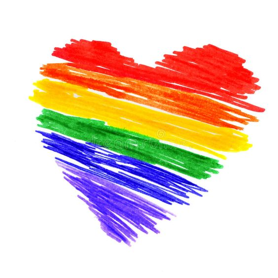 Homosexuality LGBTQ Pride Colors Heart