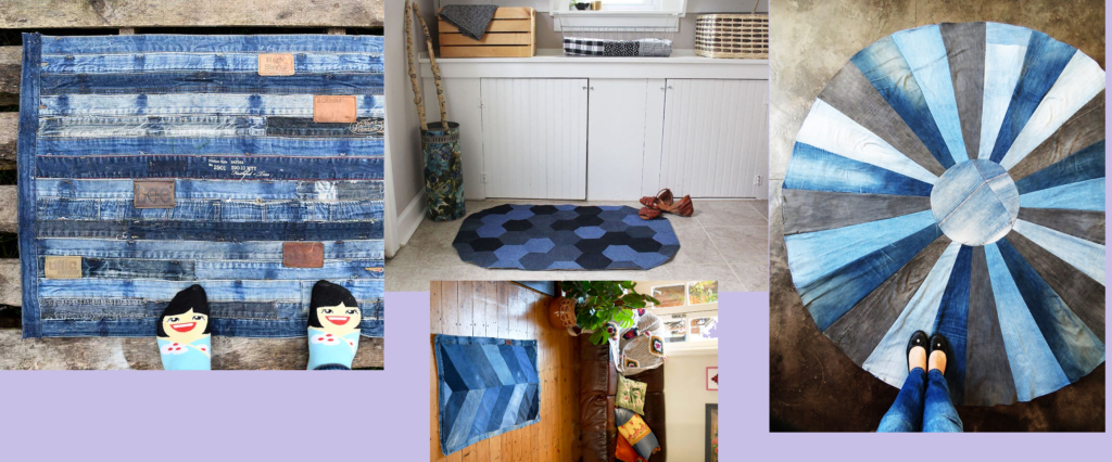 Re-purpose old jeans into rugs